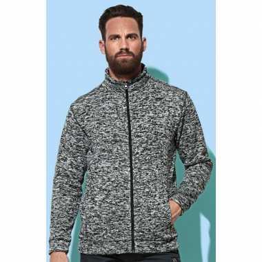 Goedkope fleece outdoor vest premium donker grijs heren