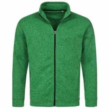 Goedkope fleece outdoor vest premium groen heren