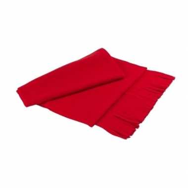 Goedkope fleece sjaal franjes volwassenen rood