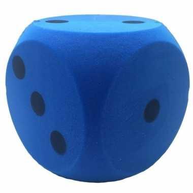 Goedkope foam dobbelsteen blauw