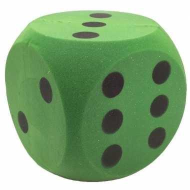 Goedkope foam dobbelsteen groen