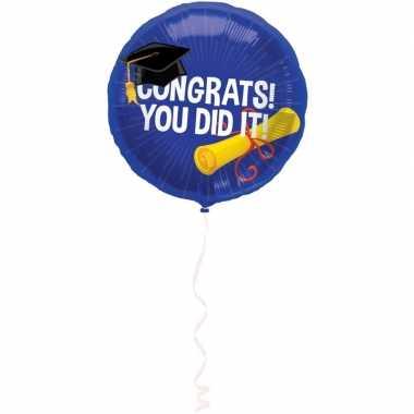 Goedkope folie ballon geslaagd/afgestudeerd