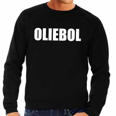 Goedkope foute jaarwisseling trui / sweater oliebol zwart heren