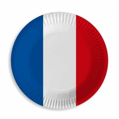 Goedkope frankrijk blauw wit rood wegwerp bordjes stuks