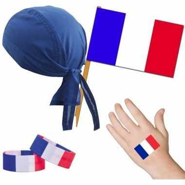 Goedkope frankrijk/frans thema verkleed set volwassenen