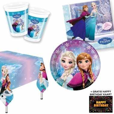 Goedkope frozen lights kinderfeestje versiering tafel pakket pers + k