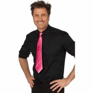 Goedkope fuchsia roze stropdas verkleedaccessoire dames/heren