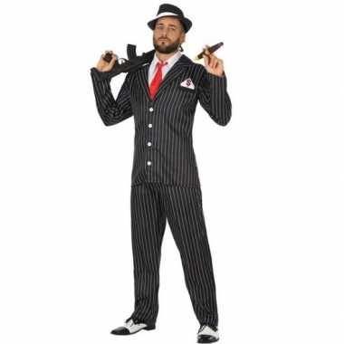 Goedkope gangster verkleed kostuum heren