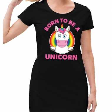 Goedkope gay pride born to be a unicorn jurkje zwart dames