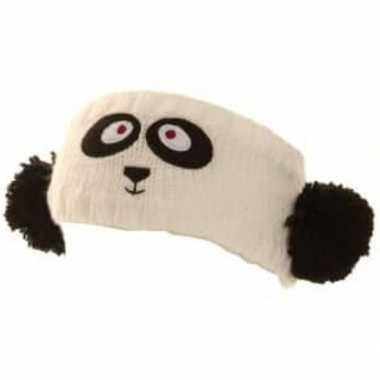 Goedkope gebreide hoofdband panda dames