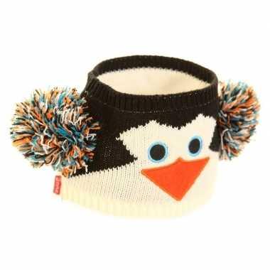 Goedkope gebreide hoofdband pinguin dames