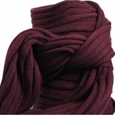 Goedkope gebreide sjaal bordeaux volwassenen