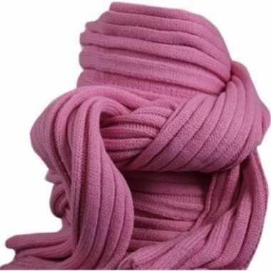Goedkope gebreide sjaal roze volwassenen