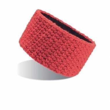 Goedkope gebreide winter hoofdband rood dames