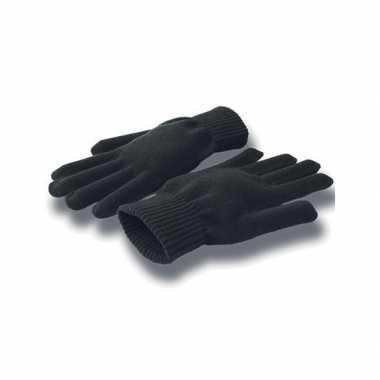 Goedkope gebreide zwarte handschoenen volwassenen