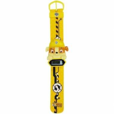 Goedkope geel paw patrol digitaal horloge rubble jongens/meisjes