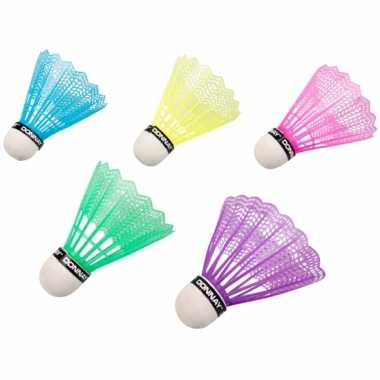 Goedkope gekleurde badminton shuttles stuks