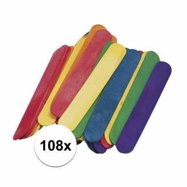 Goedkope gekleurde ijsstokjes knutselhoutjes
