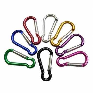 Goedkope gekleurde karabijnhaken mini stuks