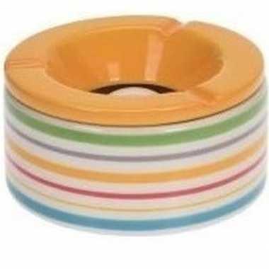 Goedkope gekleurde terrasasbak/stormasbak gele deksel