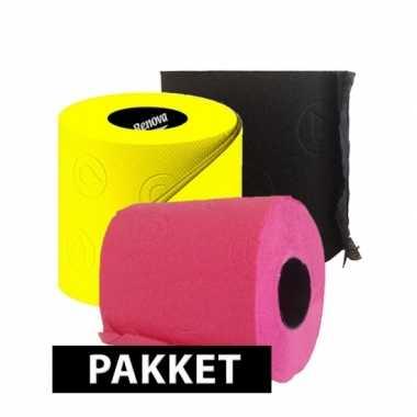 Goedkope gekleurde wc papier pakket type b