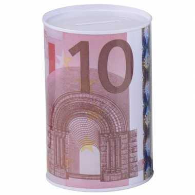 Goedkope geld spaarpot euro biljet