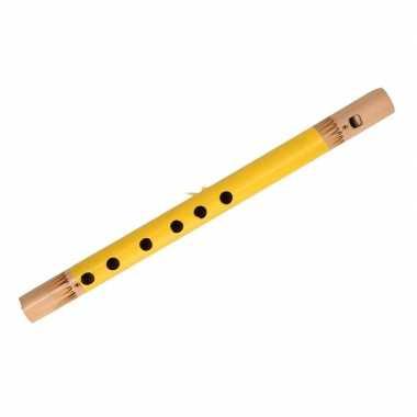 Goedkope gele fluit bamboe