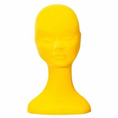 Goedkope gele fluwelen pashoofd