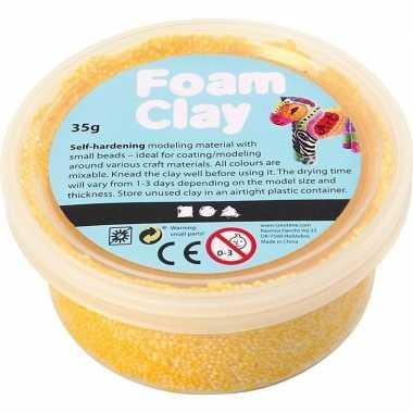 Goedkope gele foam klei gram