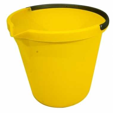 Goedkope gele schoonmaak emmer liter
