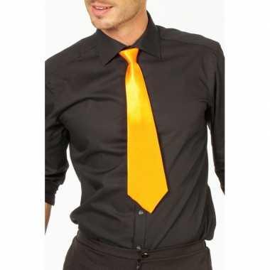 Goedkope gele stropdas verkleedaccessoire dames/heren