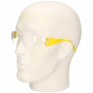 Goedkope gele vuurwerkbril/veiligheidsbril kinderen