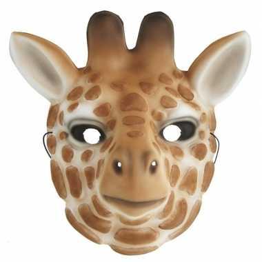 Goedkope giraffe verkleed dierenmasker kinderen