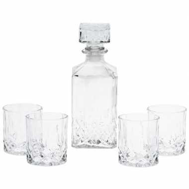 Goedkope glazen whiskey karaf glazen