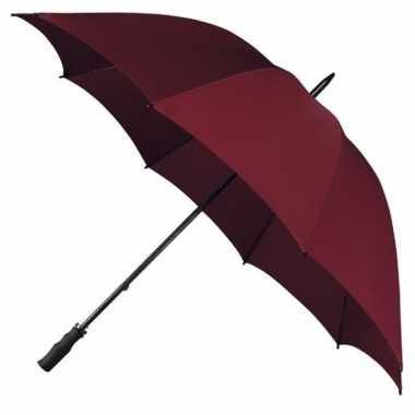 Goedkope golf stormparaplu bordeaux rood windproof