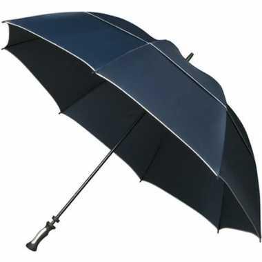 Goedkope golf stormparaplu donkerblauw windproof