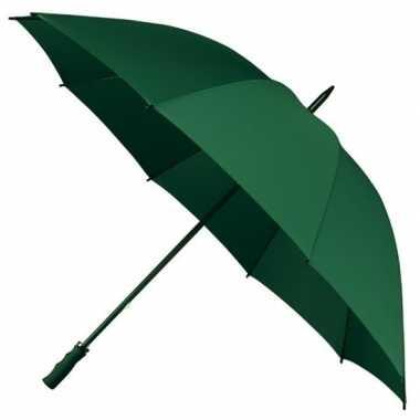 Goedkope golf stormparaplu donkergroen windproof
