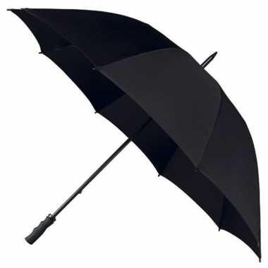 Goedkope golf stormparaplu zwart windproof
