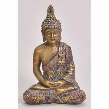 Goedkope goud boeddha beeldje zittend