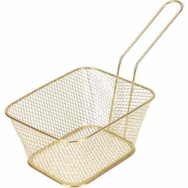 Goedkope goud patat/snack serveermandje/frituurmandje