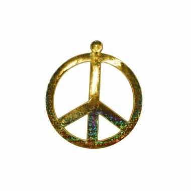 Goedkope goud peace teken
