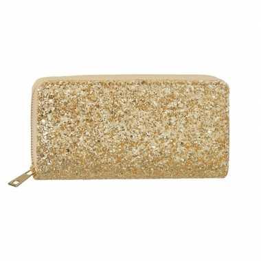 Goedkope gouden glitter portemonnee dames