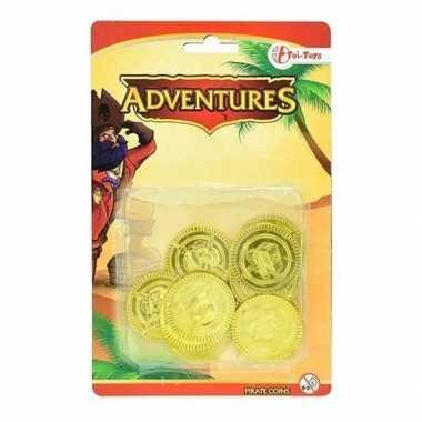 Goedkope gouden piraten speelgoed munten