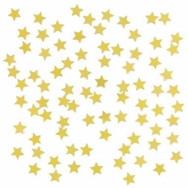 Goedkope gouden sterren confetti zakje gram