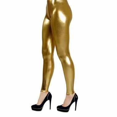Goedkope gouden verkleed legging dames