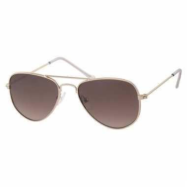 ff416450f83762 Goedkope goudkleurige baby peuter piloten zonnebril