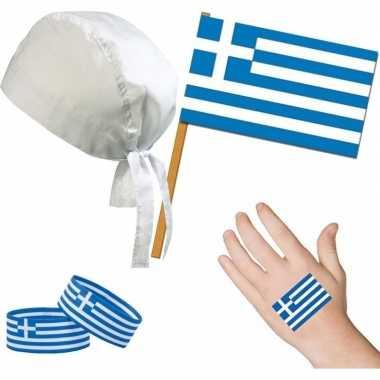 Goedkope griekenland/grieks thema verkleed set volwassenen