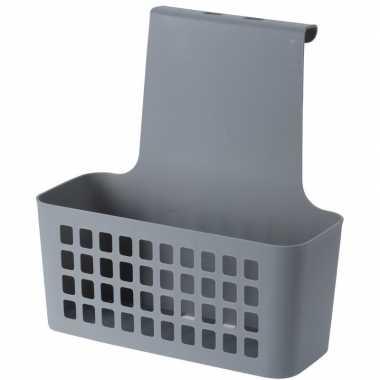 Goedkope grijze badkamer of kasten opberg/sorteer hang mandje