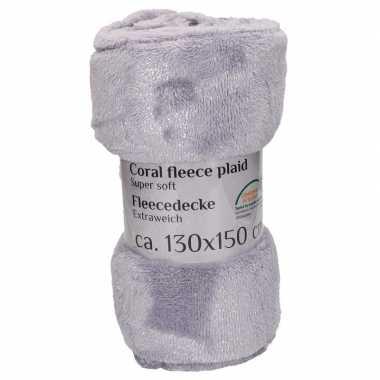 Goedkope grijze fleece deken
