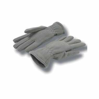 Goedkope grijze fleece handschoenen volwassenen